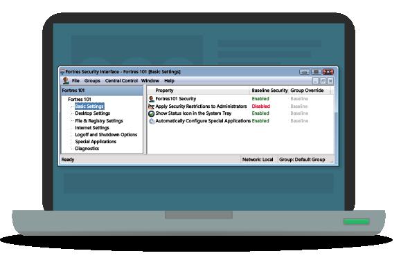Desktop Security & File Lockdown Software | Fortres 101